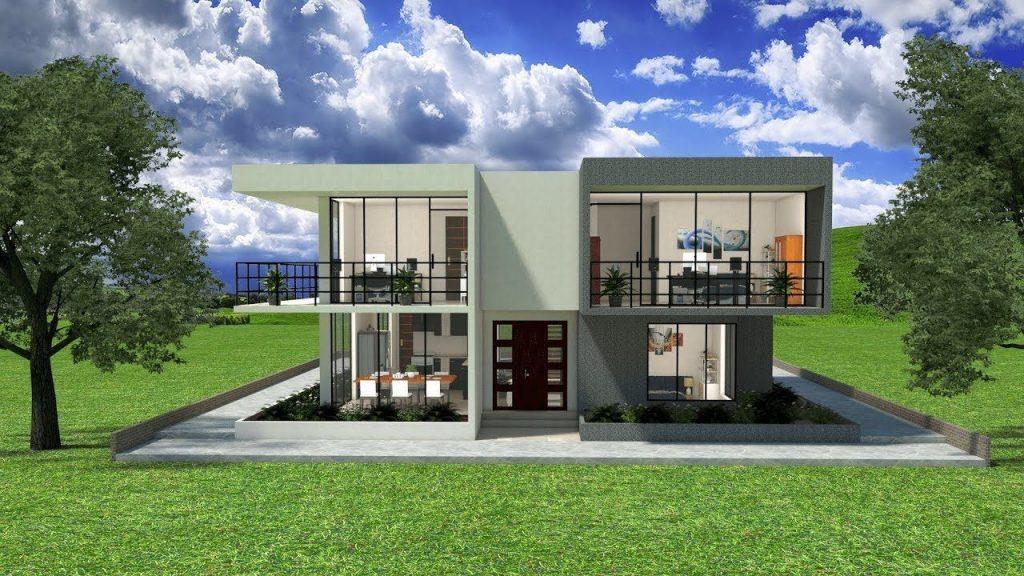 Casas de dos pisos - Estilo minimalista