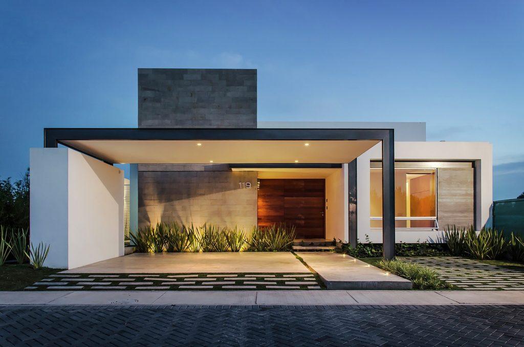 Fachadas de casas con formas geométricas