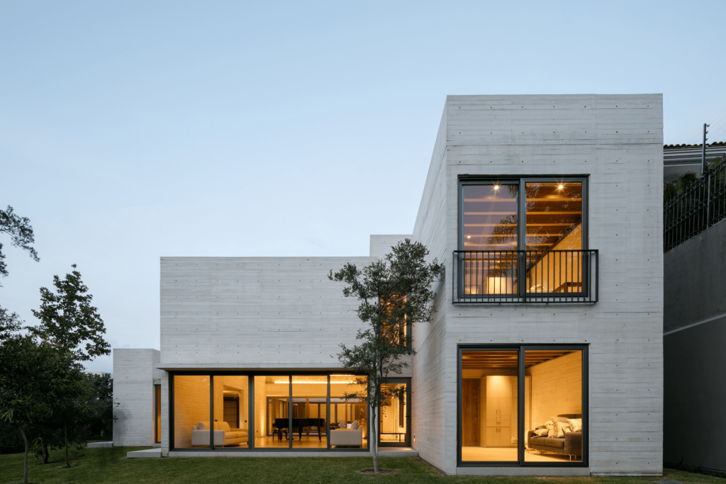 Fachadas de casas de concreto pulido