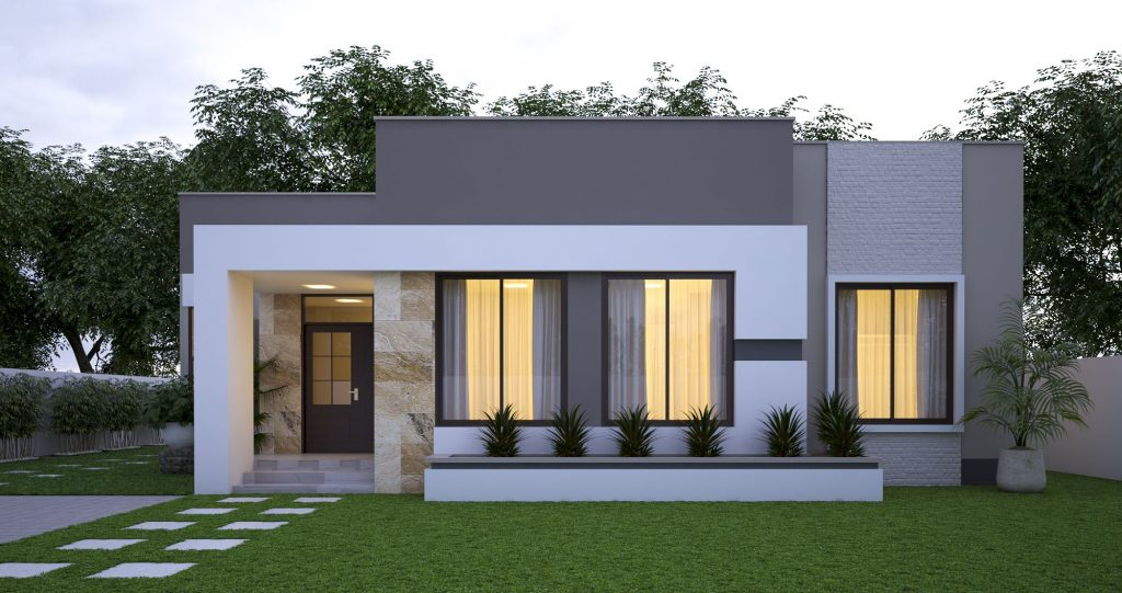 Fachadas de casas sencillas y modernas - MA Arquitectura