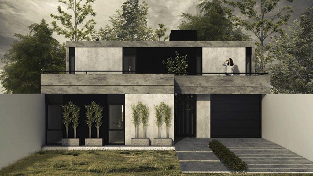 Fachadas de hormigón y acero - MA Arquitectura