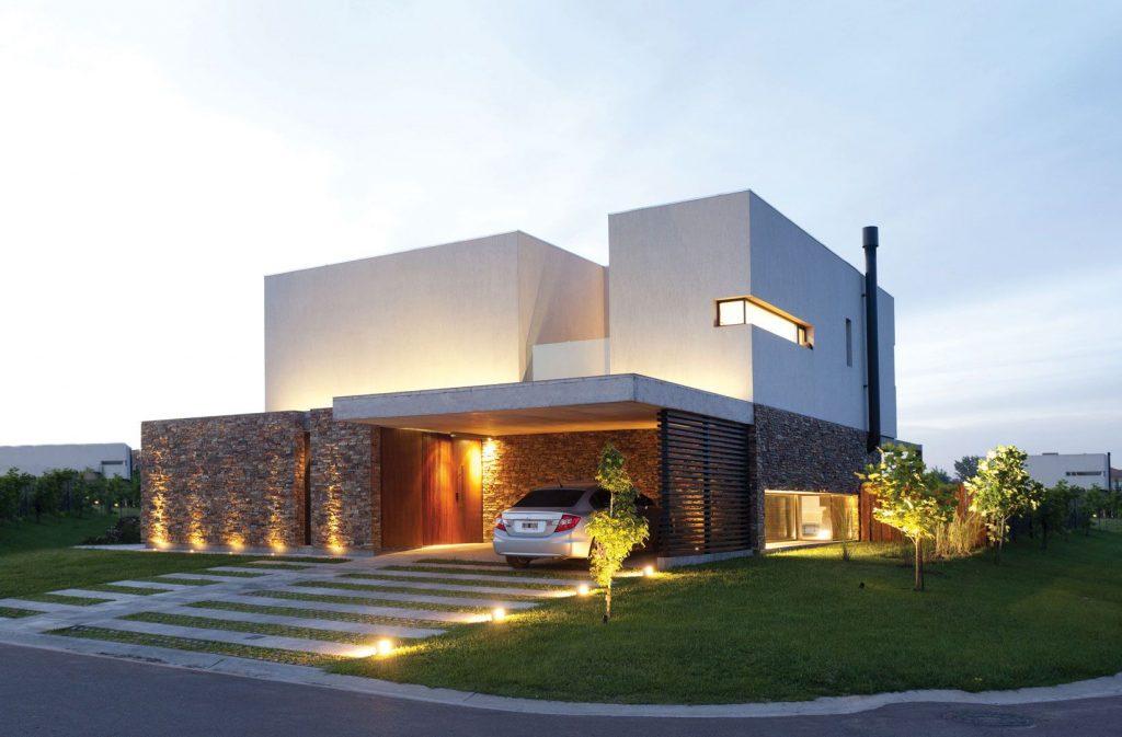 Fachadas contemporáneas de casas en México