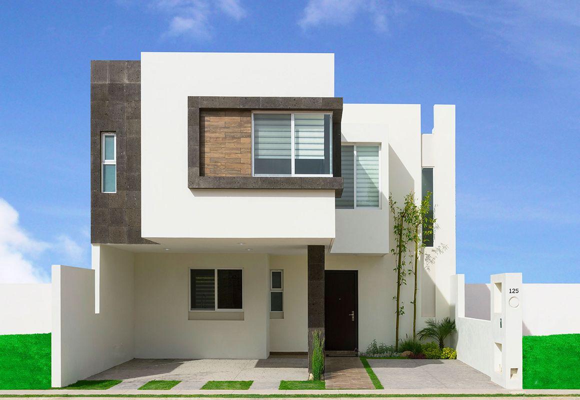 fachadas de casas minimalistas de dos plantas